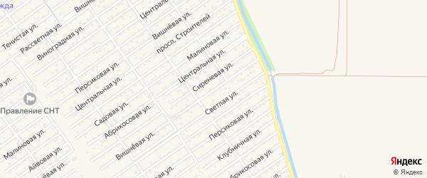 Клубничная улица на карте Восхода с номерами домов