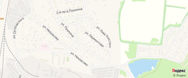 Улица Лермонтова на карте Электрогорска с номерами домов