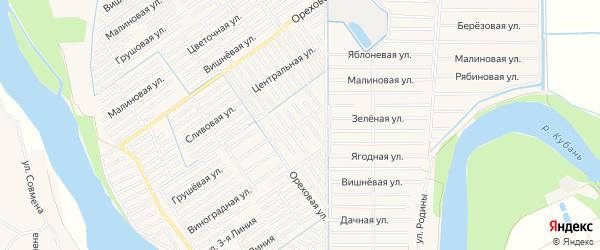 Территория днт Проектировщик на карте Майкопа с номерами домов