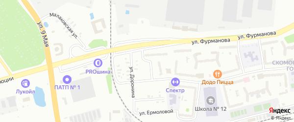 Улица Слепнева на карте Рыбинска с номерами домов