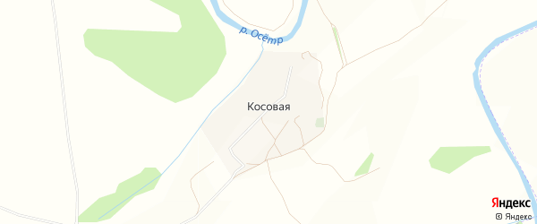 Карта Косовая деревни города Зарайска в Московской области с улицами и номерами домов