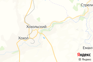 Карта пгт Хохольский Воронежская область