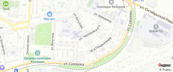 Улица Кутузова на карте Коломны с номерами домов