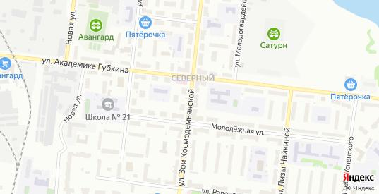 Улица Молодежная/Зои Космодемьянской в Рыбинске с номерами домов на карте. Спутник и схема онлайн