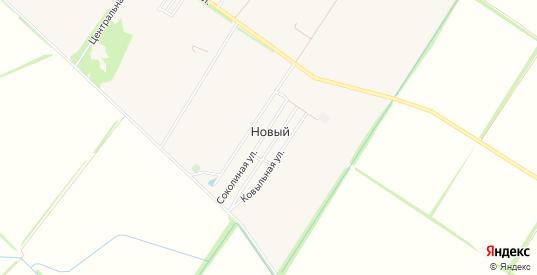 Карта хутора Новый в Краснодаре с улицами, домами и почтовыми отделениями со спутника онлайн