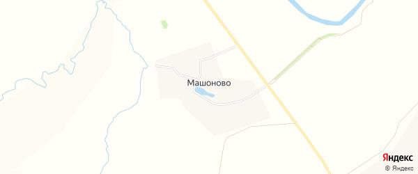 Карта деревни Машоново города Зарайска в Московской области с улицами и номерами домов