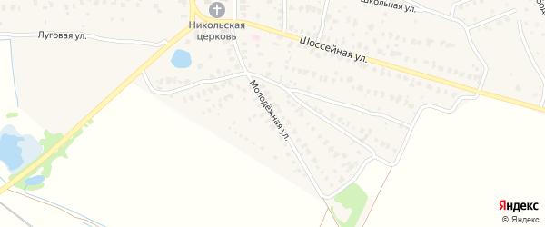 Молодежная улица на карте села Парфентьево с номерами домов
