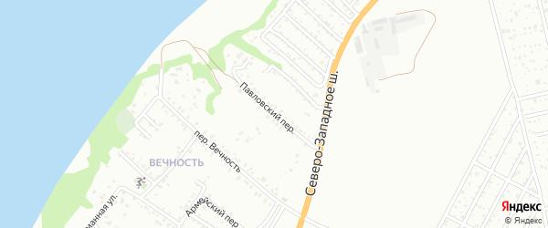 Павловский переулок на карте Таганрога с номерами домов