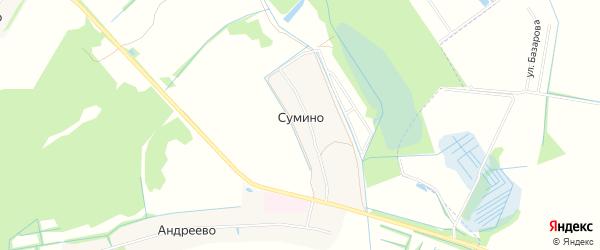 Карта деревни Сумино города Павловского Посада в Московской области с улицами и номерами домов