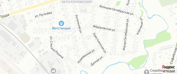 Улица Котельная/Панфиловцев на карте Рыбинска с номерами домов