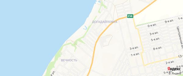 Карта поселка Лагуны города Таганрога в Ростовской области с улицами и номерами домов