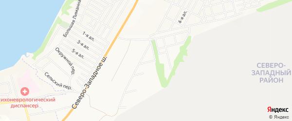 Карта поселка Ягодки города Таганрога в Ростовской области с улицами и номерами домов