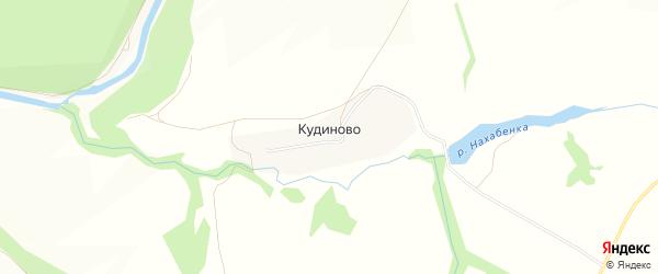 Карта деревни Кудиново города Зарайска в Московской области с улицами и номерами домов