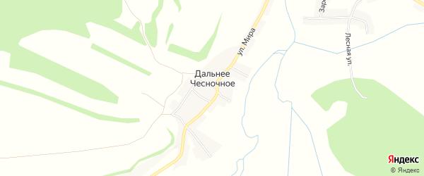 Карта Дальнего Чесночного села в Белгородской области с улицами и номерами домов