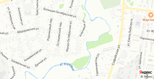 Ключевая улица в Рыбинске с номерами домов на карте. Спутник и схема онлайн