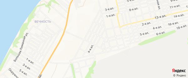 Карта поселка Педагога города Таганрога в Ростовской области с улицами и номерами домов