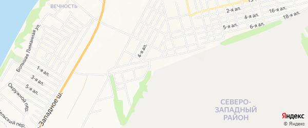 Карта поселка Дачного-3 города Таганрога в Ростовской области с улицами и номерами домов