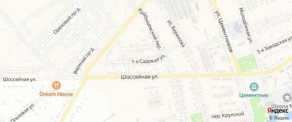1-ая Садовая улица на карте Коломны с номерами домов