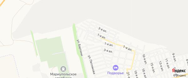 Карта поселка Энтузиаста города Таганрога в Ростовской области с улицами и номерами домов
