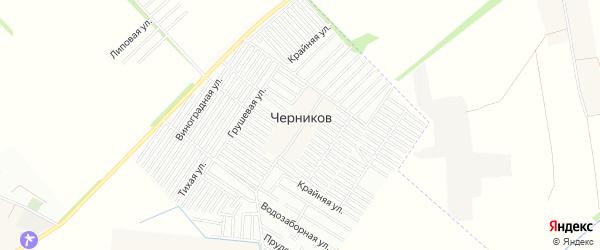 Карта хутора Черникова города Краснодара в Краснодарском крае с улицами и номерами домов