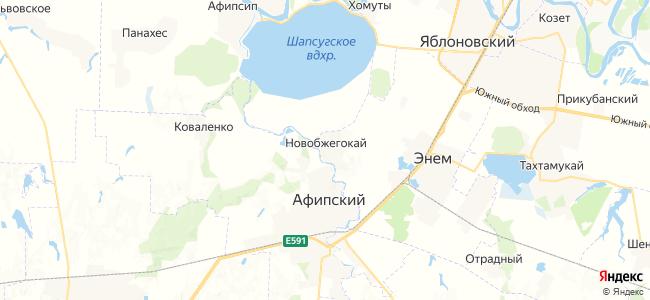 Новобжегокай на карте