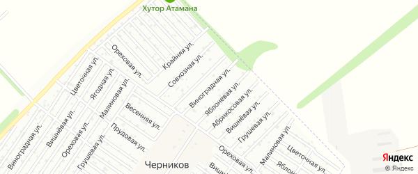 Виноградная улица на карте садового некоммерческого товарищества Новые садов Сатурна с номерами домов