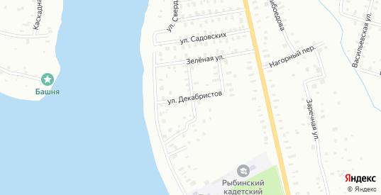 Кривоколенный переулок в Рыбинске с номерами домов на карте. Спутник и схема онлайн