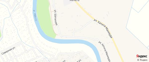 Улица Шаталова на карте аула Новобжегокая Адыгеи с номерами домов