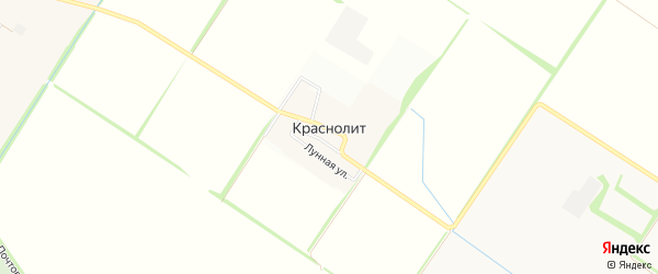 Карта поселка Краснолита города Краснодара в Краснодарском крае с улицами и номерами домов