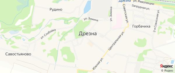 ГСК Южный-2 на карте Дрезны с номерами домов