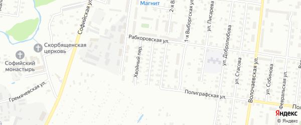 Улица Рабкоровская/Фанерный переулок на карте Рыбинска с номерами домов