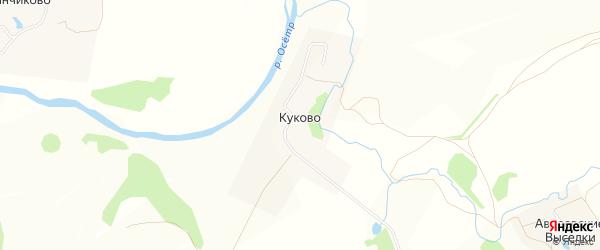 Карта деревни Куково города Зарайска в Московской области с улицами и номерами домов