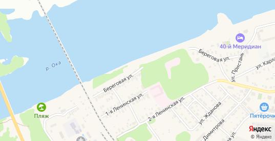 Береговая улица в Коломне с номерами домов на карте. Спутник и схема онлайн
