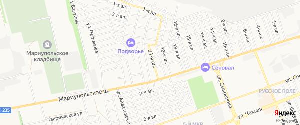 Карта поселка УППА ВОСА города Таганрога в Ростовской области с улицами и номерами домов