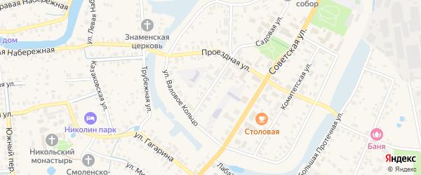 Красноармейский переулок на карте Переславля-Залесского с номерами домов