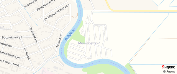 Клубничная улица на карте Мелиоратор-1 Адыгеи с номерами домов