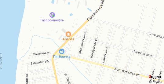 Костромская/Мышкинская улица в Рыбинске с номерами домов на карте. Спутник и схема онлайн