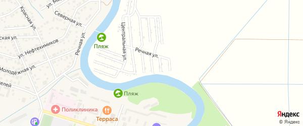Рябиновая улица на карте садового некоммерческого товарищества Мелиоратора-1 с номерами домов