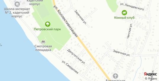Улица Западная/Коллективизации в Рыбинске с номерами домов на карте. Спутник и схема онлайн