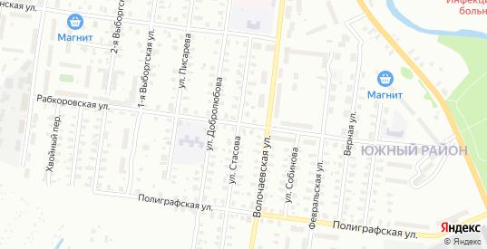 Писарева/Рабкоровская улица в Рыбинске с номерами домов на карте. Спутник и схема онлайн