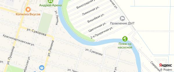 Малиновая улица на карте садового некоммерческого товарищества Мелиоратора-1 с номерами домов