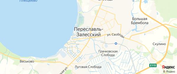 Карта Переславля-Залесского с районами, улицами и номерами домов