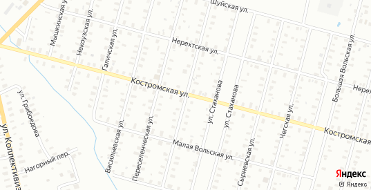 Шуйская/Костовецкая улица в Рыбинске с номерами домов на карте. Спутник и схема онлайн