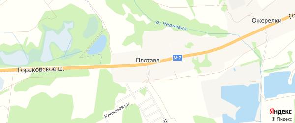 Карта деревни Плотавы города Орехово-Зуево в Московской области с улицами и номерами домов