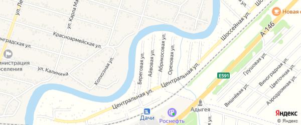 Айвовая улица на карте Берега Афипса Адыгеи с номерами домов