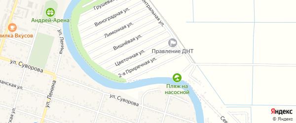 Приречная 2-я улица на карте территории Приречного Адыгеи с номерами домов