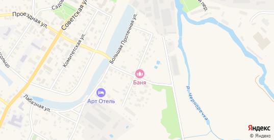 Малая Протечная улица в Переславле-Залесском с номерами домов на карте. Спутник и схема онлайн