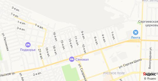 Дачное некоммерческое партнерство Коммунальник-1 на карте Таганрога с номерами домов