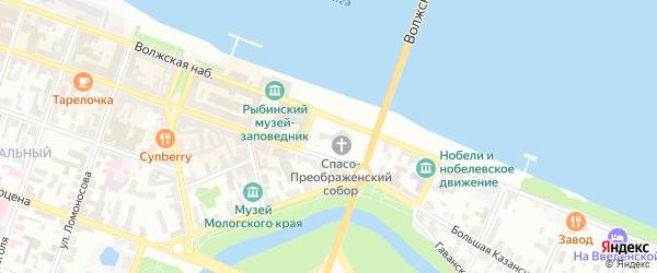 Фибролитовый переулок на карте Рыбинска с номерами домов