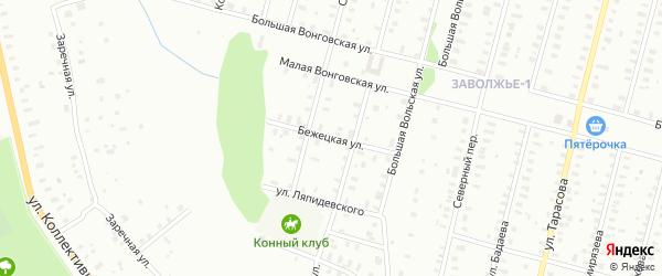 Бежецкая улица на карте Рыбинска с номерами домов